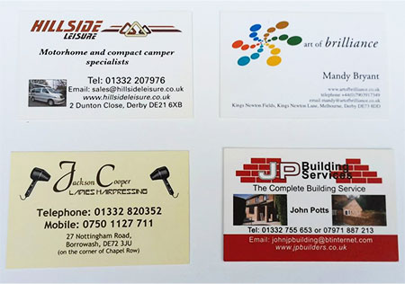 Printing for business personal clubs organisations derby your print requirements from beginning to end professionally and economically whats more were a long established small family run firm and have a reheart Choice Image